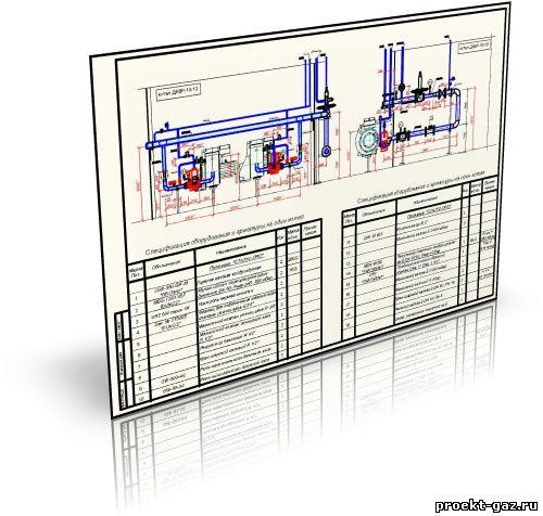 Газооборудование парового котла ДКВР-10-13