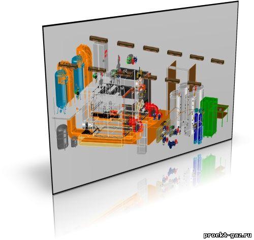 Пример котельной 3D
