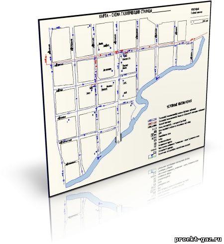Карта-схема газопроводов