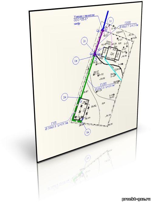 Пример плана прокладки газопровода
