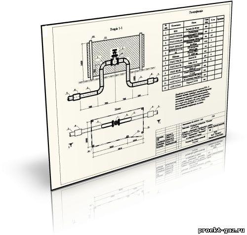 Задвижки на подземном газопроводе