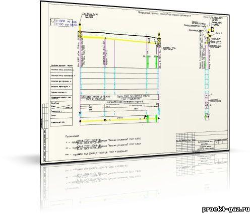 Профиль газопровода низкого давления