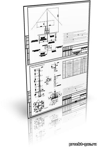 защита от молнии ШРП и шкафа узла учёта газа