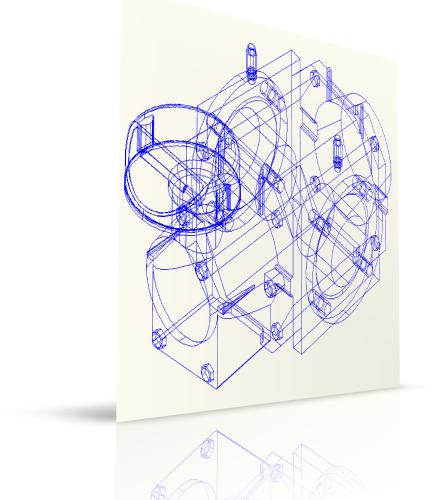 Ротационный счетчик газа RVG G250 Ду 100 в 3D