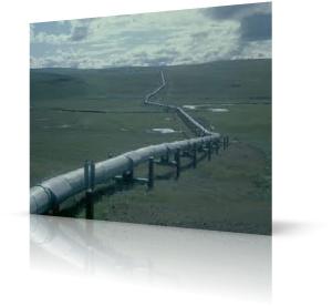 газопровод в поле