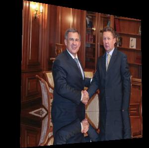Алексей Миллер и Рустам Минниханов обсудили развитие рынка газомоторного топлива в Татарстане